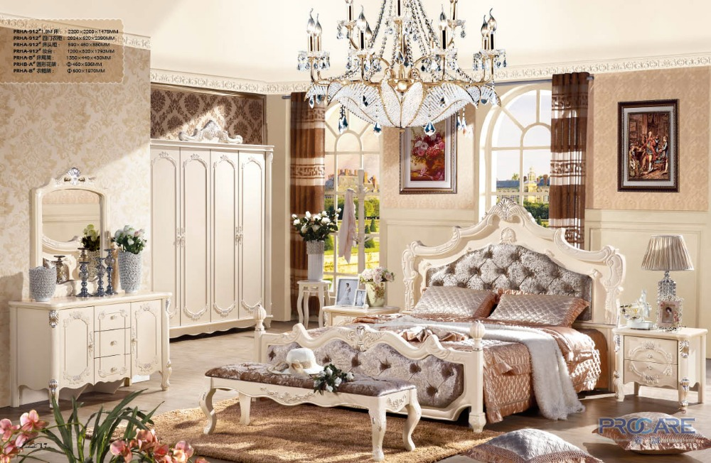 Impressive Luxury French Bedroom Furniture Luxury French Fancy Antique Design Solid Wood Fabric Bedroom