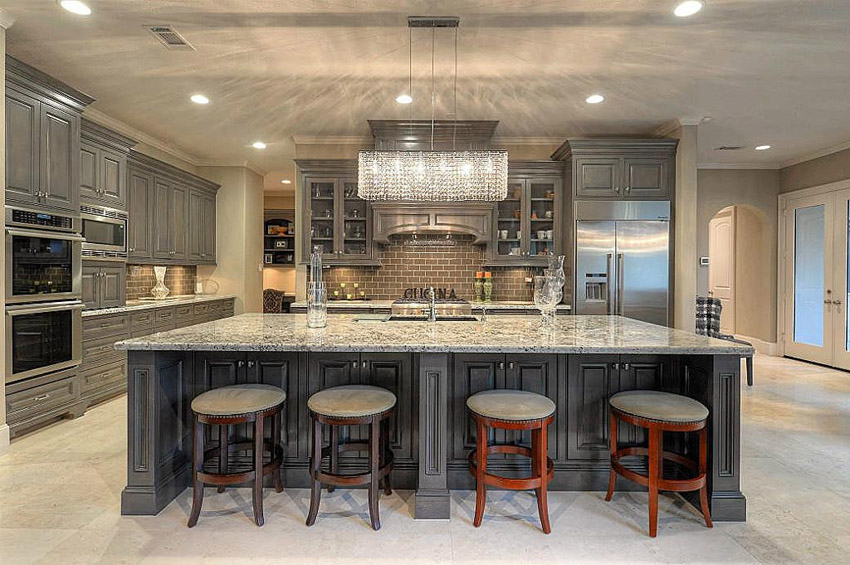 Impressive Luxury Kitchen Island 50 Gorgeous Kitchen Designs With Islands Designing Idea