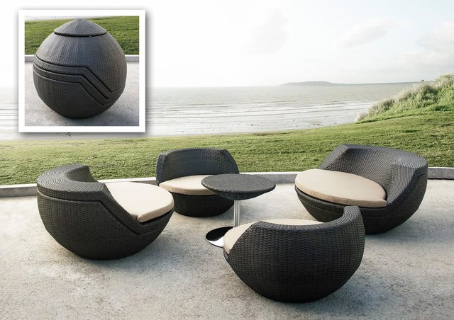 Impressive Modern Exterior Furniture Modern Wicker Outdoor Furniture Outdoorlivingdecor