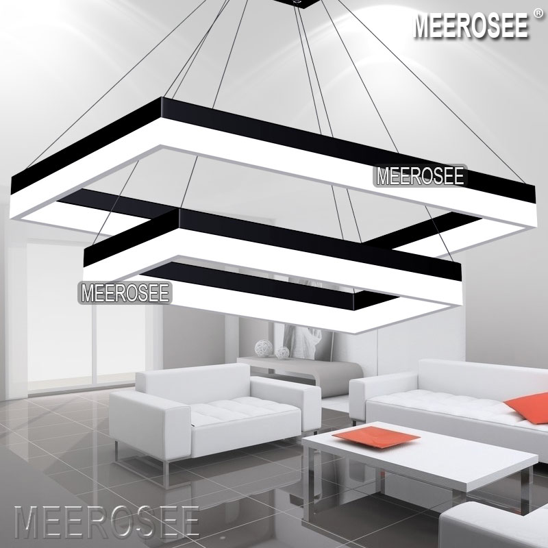 Impressive Modern Led Lighting Modern Led Rectangle Pendant Light Fixture Gold Dining Room Led