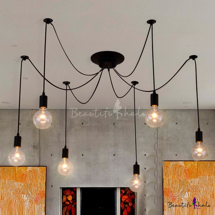 Impressive Multi Bulb Ceiling Light Edison Bulb Black Multi Light Pendant Beautifulhalo