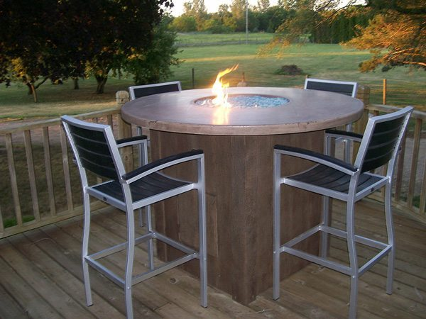 Impressive Outdoor High Top Table Outdoor High Top Concrete Fire Table