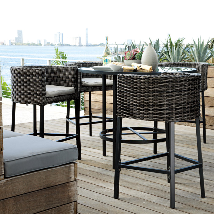 Impressive Patio Furniture High Table Best 25 High Top Bar Tables Ideas On Pinterest Table Within And