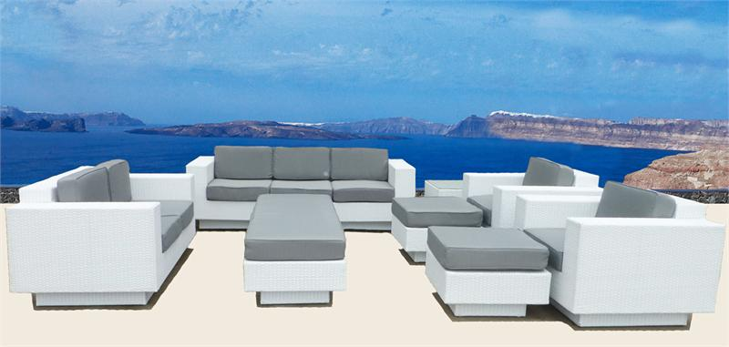 Impressive White Modern Patio Furniture Wicker Sectional Sofa Patio Furniture