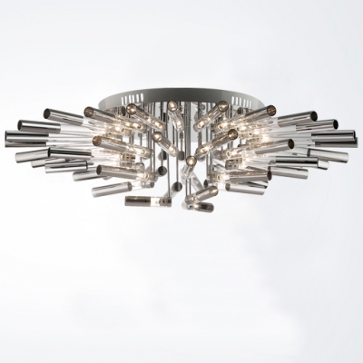 Incredible Bar Ceiling Lights Blooming Large Led Bar Flower Shape Modern Close To Ceiling Light