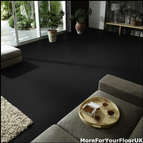 Incredible Black Vinyl Flooring Plain Black Vinyl Flooring Non Slip Quality Lino 4m Ebay