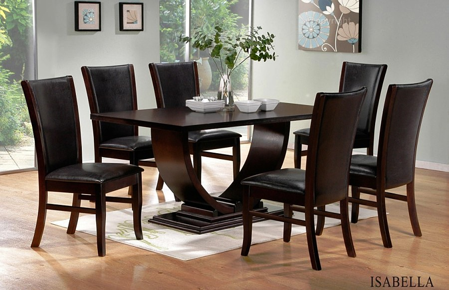 Incredible Dark Wood Dining Room Table And Chairs Marvellous Dark Wood Dining Room Table And Chairs 12 About Remodel