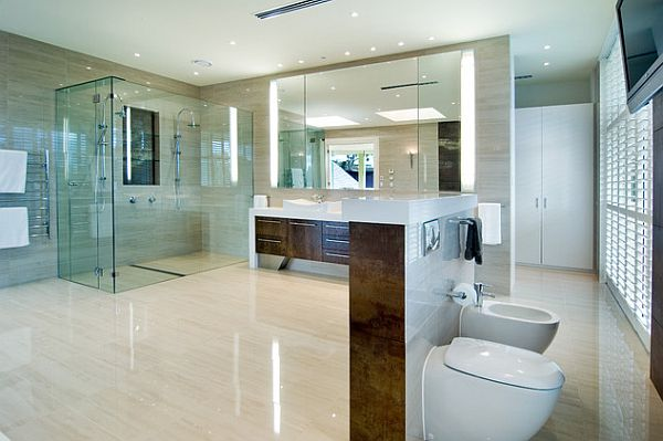 Incredible Fancy Modern Bathroom Astonishing Modern Tile Flooring Fancy Bathroom Toilet Privacy