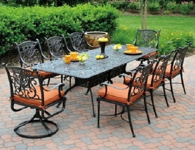 Incredible High End Aluminum Patio Furniture Perfect High End Patio Dining Set Tuscany Hanamint Cast Aluminum