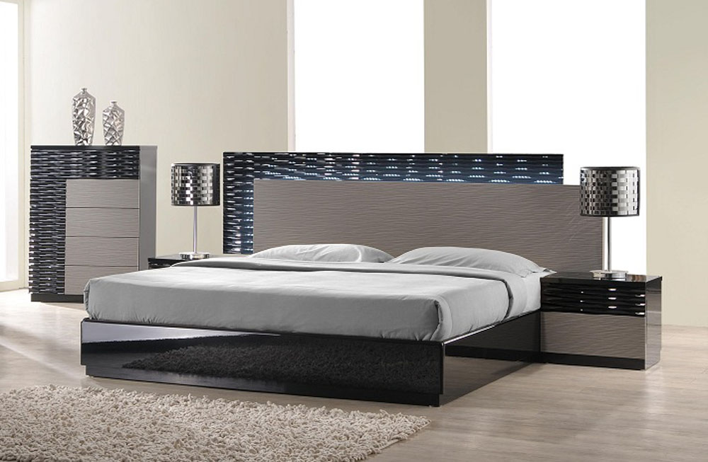 Incredible High End Beds Lacquered Italian Design Wood High End Platform Bed Montgomery