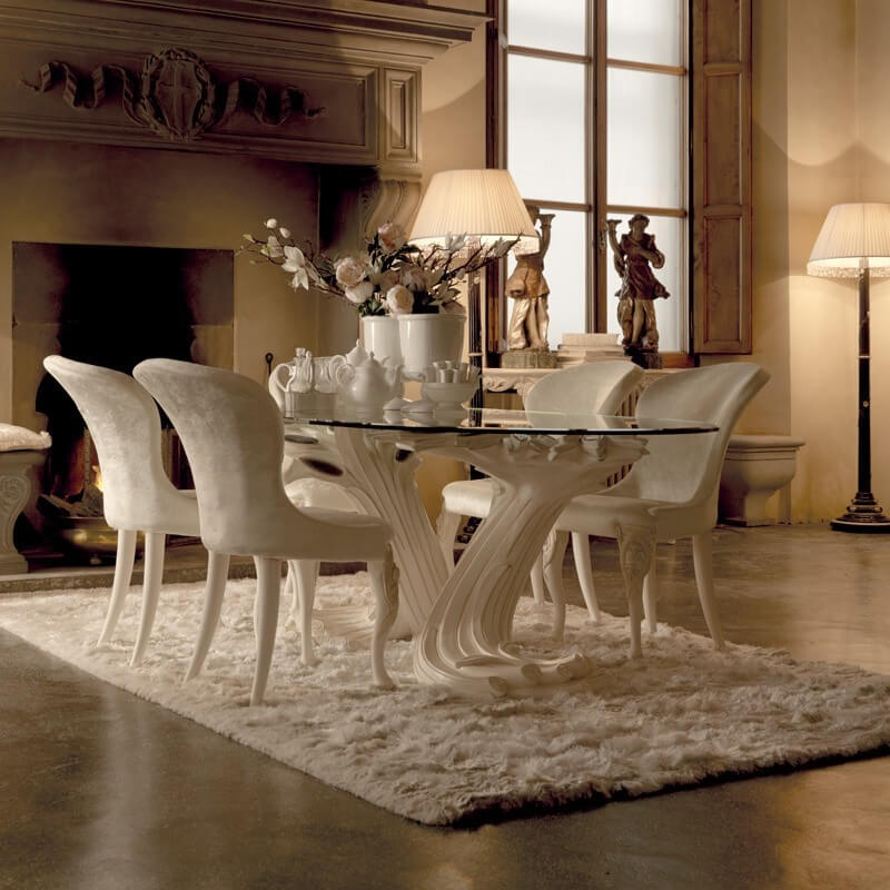Stylish High End Glass Dining Tables Designer High End Dining Chairs