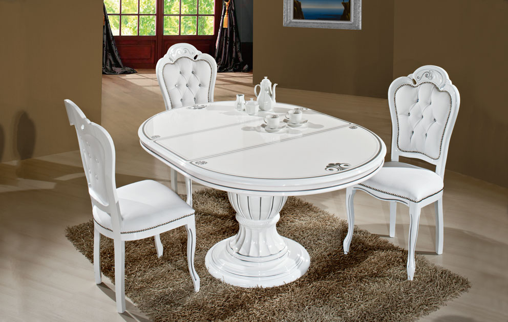Incredible Italian White Dining Table Latest Italian Dining Table And Chairs Italian Furnitures Italian