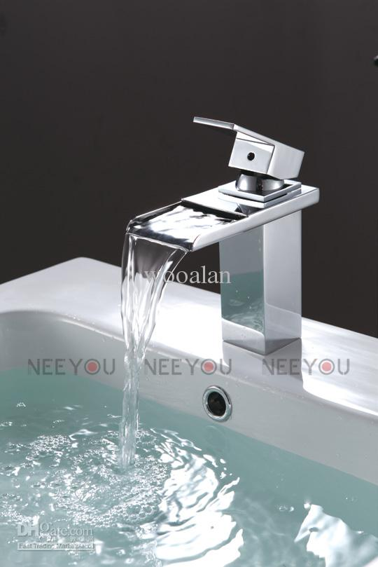 Incredible Luxury Bathroom Faucets Hot Sell Bathroom Deck Mounted Waterfall Basin Faucet Luxury Bath