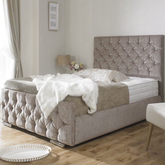 Incredible Luxury Upholstered Beds Brilliant Clara Diamond Upholstered Bed Frame Luxury Fabric Beds