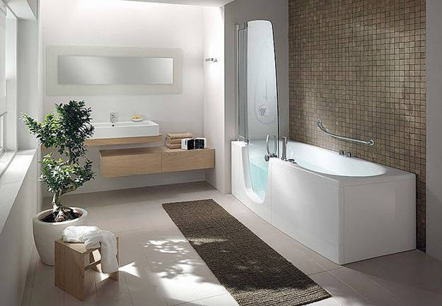 Incredible Modern Bathtub Shower Stylish Bathtubs And Shower Enclosures Modern Bathroom Design