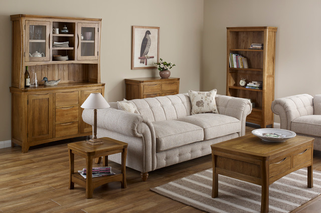 Incredible Oak Living Room Furniture Orrick Rustic Solid Oak Living Room Traditional Living Room