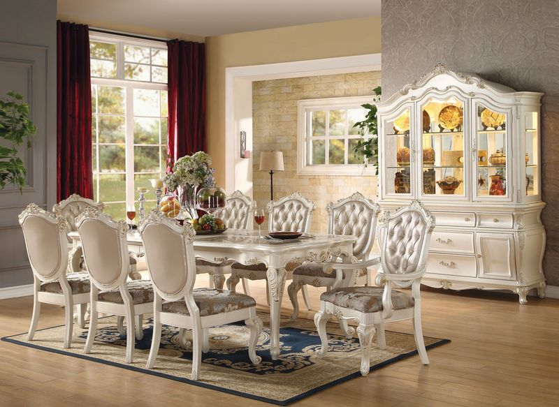 Incredible White Dining Room Sets Formal Von Furniture Chantelle Formal Dining Room Set In White