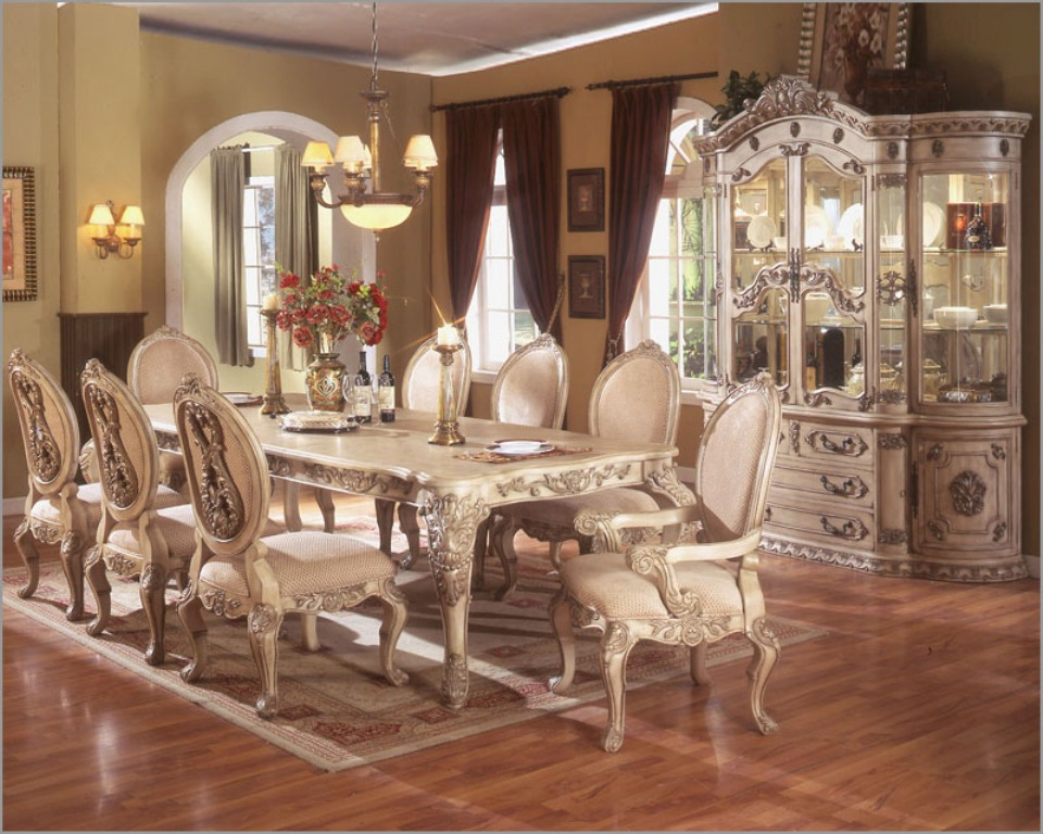 Incredible White Dining Room Sets Formal White Formal Dining Room Sets Gen4congresscom Full Circle