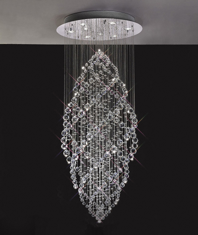 Innovative Chandelier Lights Uk Gabor Floating Crystal Pendant Chandelier