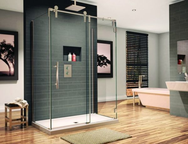 Innovative Contemporary Bathroom Showers Doors Glass Shower Enclosure Perfect For The Contemporary