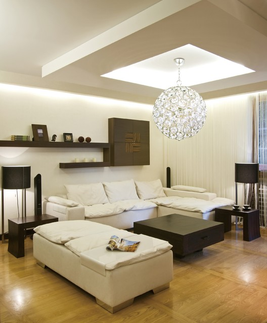 Innovative Contemporary Living Room Lighting Brilliant Round Crystal Pendant Ball Chandelier Modern
