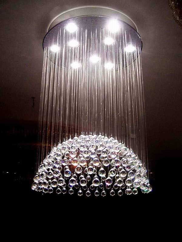 Innovative Crystal Chandelier Contemporary Design Simple Contemporary Crystal Chandelier On Home Interior Design