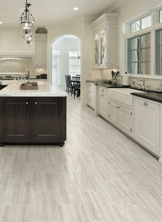 Innovative Grey Vinyl Flooring Kitchen 29 Vinyl Flooring Ideas With Pros And Cons Digsdigs