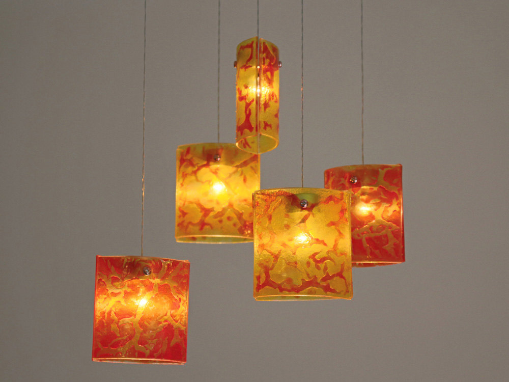 Innovative Hanging Ceiling Light Fixtures Fused Glass Pendant Lights Chandelier Lighting Hanging