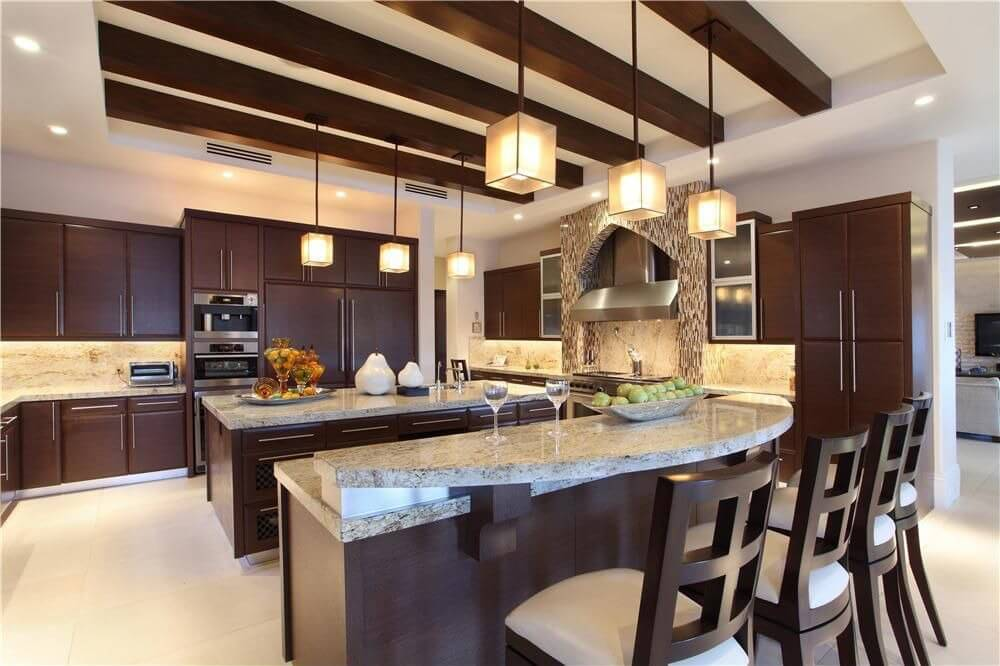 Innovative High End Kitchen Island Designs Luxury Kitchen Islands With Seating Decoraci On Interior