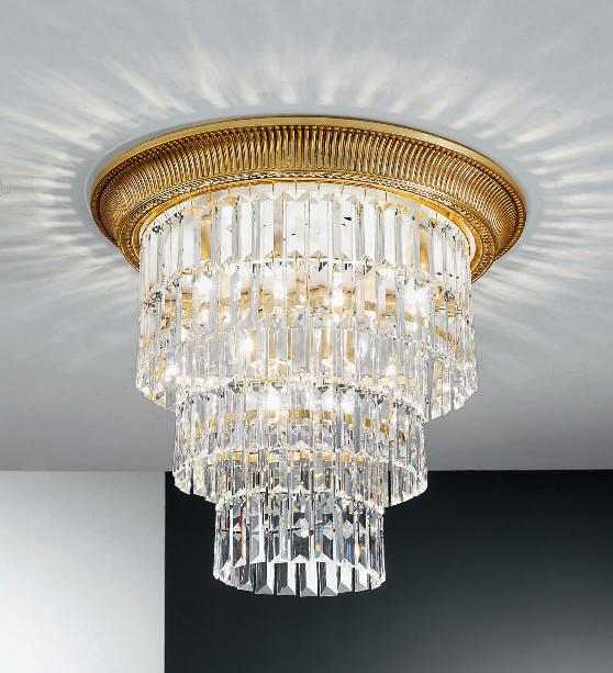 Innovative Large Ceiling Lights Kolarz Milord Crystal Large Ceiling Light French Gold 034614l