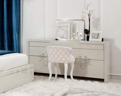 Innovative Luxury Dresser Furniture Genuine Quality Wood Luxury Dresser With Mirror In White Gloss