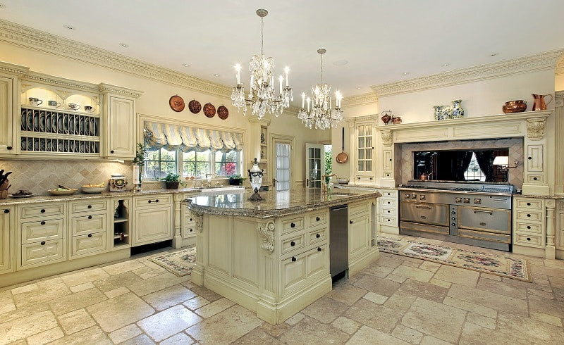 Innovative Luxury Kitchen Tiles Stunning Kitchens With Tile Floors Art Of The Home