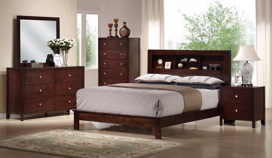 Innovative Modern Bedroom Collections Baxton Studio Montana Mahogany Brown Wood 5pc Queen Modern Bedroom Set