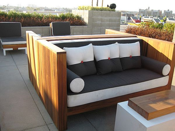 Innovative Modern Wood Patio Furniture Impressive Outdoor Sofa Wood Attractive Modern Wood Outdoor