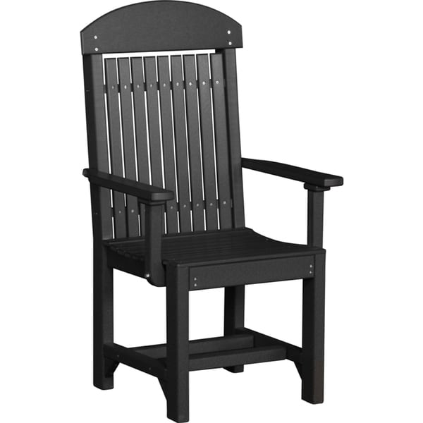 Innovative Outdoor High Chair Set Of 2 Poly Outdoor High Back Dining Height Captain Chairs