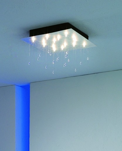 Innovative Square Ceiling Light Crystal Rain Small Square Ceiling Light Escale Interior Deluxe
