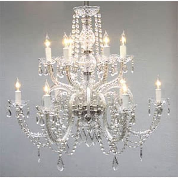 Lovable 12 Light Chandelier Gallery Venetian Style All Crystal 12 Light Chandelier Free