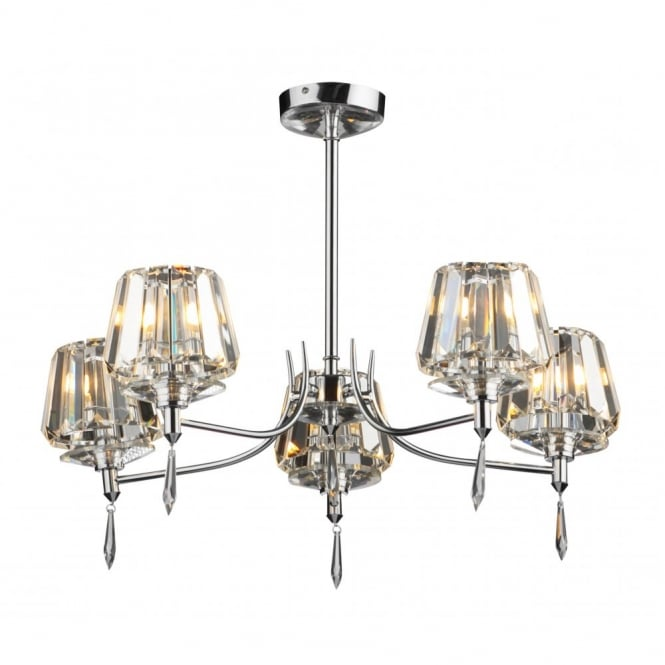 Lovable 5 Light Ceiling Light Dar Dar Sel0550 Selina 5 Light Modern Ceiling Light Semi Flush
