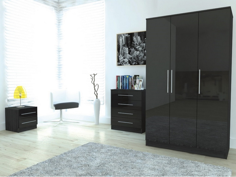 Lovable Black Gloss Bedroom Furniture Classy Bedroom