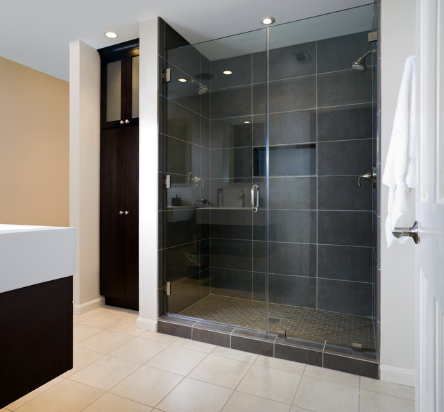 Lovable Contemporary Bathroom Showers Modern Master Bath Shower Contemporary Bathroom Dc Metro