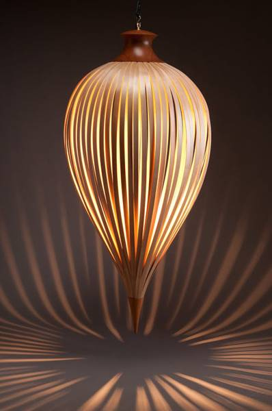 Lovable Contemporary Designer Lighting Lights Appliances Unique Brown Contemporary Wood Hanging Lamp