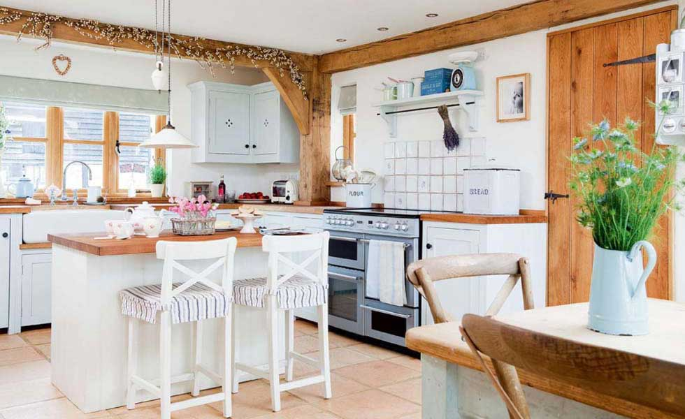 Lovable Country Style Kitchen Entranching Country Style Kitchen Ideas With Compact Layouts