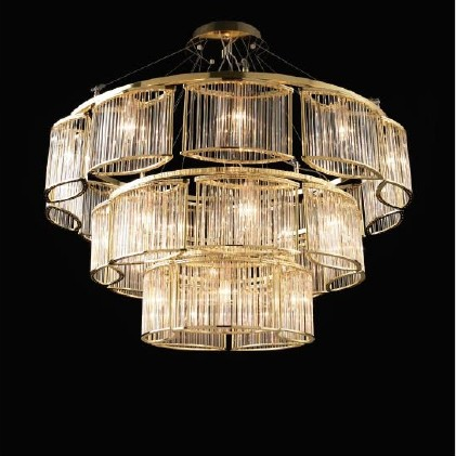 Lovable Glass Ceiling Chandelier Modern Hotel Decorative Glass Ceiling Lighting
