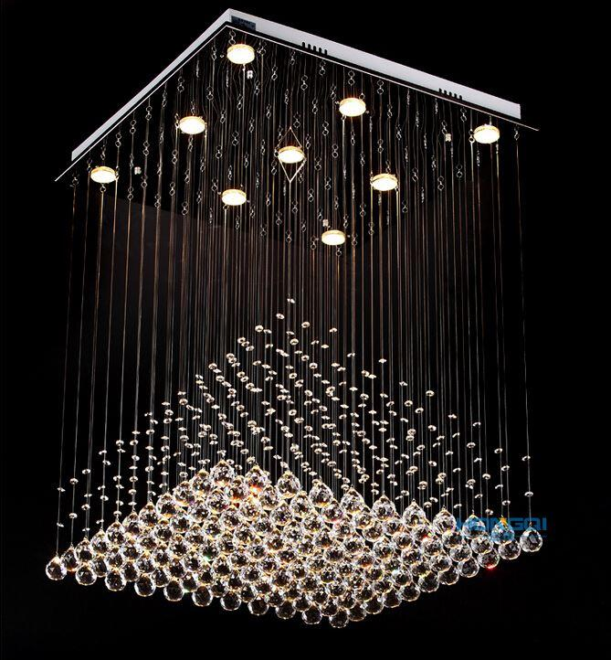Lovable Hanging Chandelier Lamp Interesting Crystal Hanging Chandelier Modern Clear Square Crystal