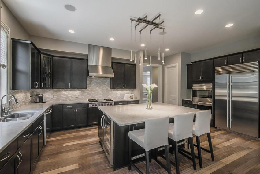 Lovable High End Kitchen Backsplash 53 High End Contemporary Kitchen Designs With Natural Wood