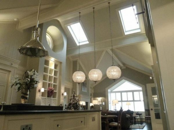 Lovable Long Kitchen Ceiling Lights Artistic Lights For High Ceilings Kitchen Using Long Pendant Light