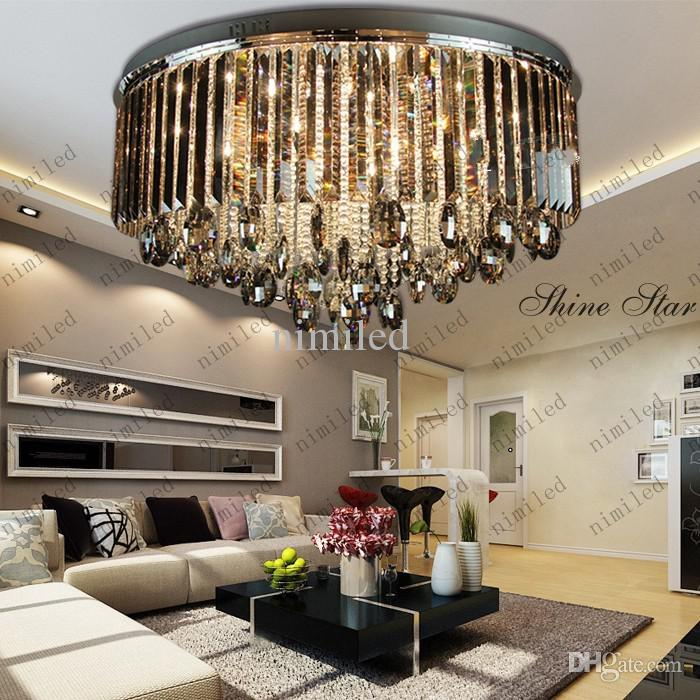 Lovable Luxury Ceiling Lights Luxury Living Room Grey Crystal Ceiling Lights Lamp Fixtures