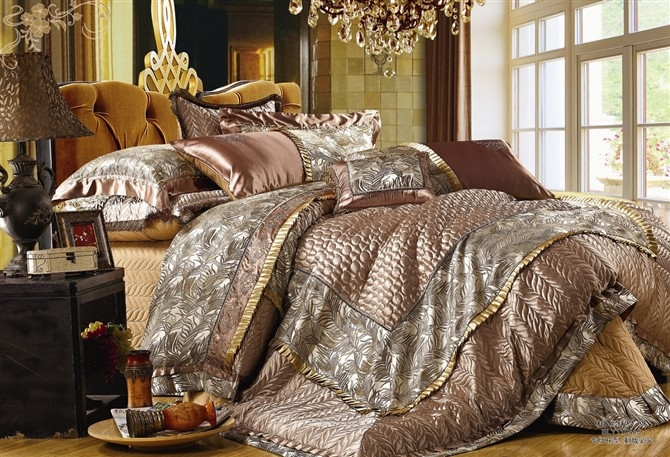 Lovable Luxury King Size Bedding Sets Amazing Elegant Comforter Sets European Pastoral Bedding Set