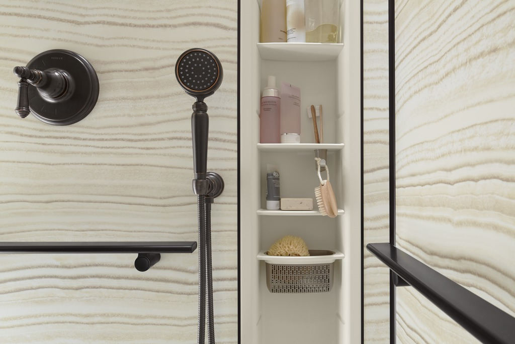 Lovable Luxury Shower Accessories 3 Innovative Shower Storage Products For A Luxury Bathroom