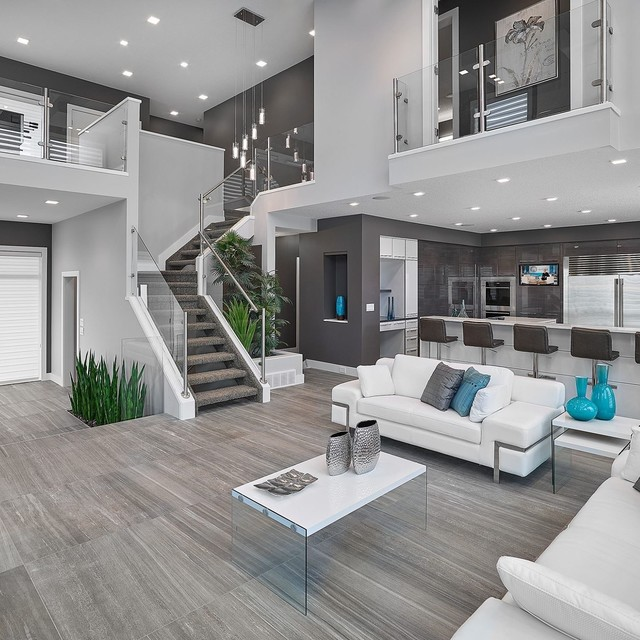 Lovable Modern Living Room Design Ideas Interior Stairs And Handrails